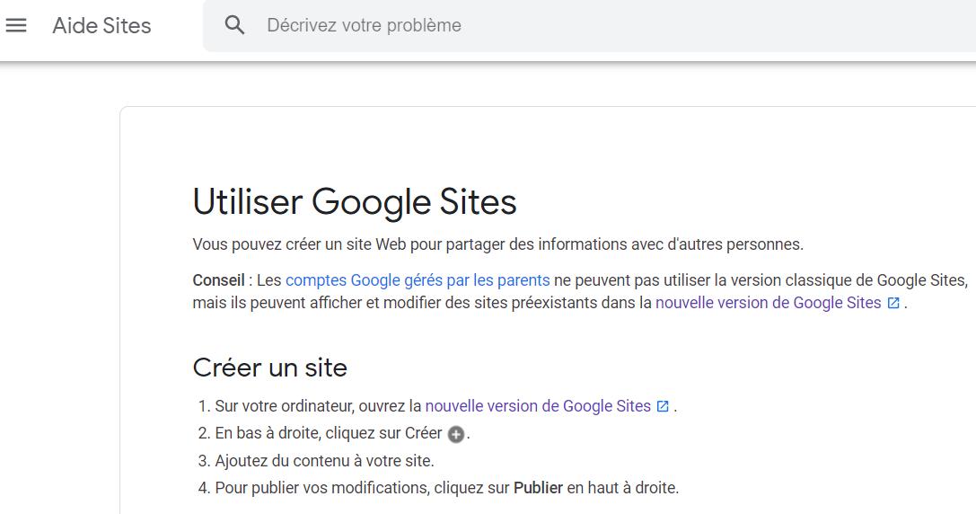 aide google